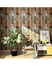 Wood Peel and Stick Wallpaper Self-Adhesive Removable Contact Paper Vintage Wood Panel Faux Distressed Wood Plank Waterproof Wallpaper Shelf Liner Home Decoration 17.7''x118.1''