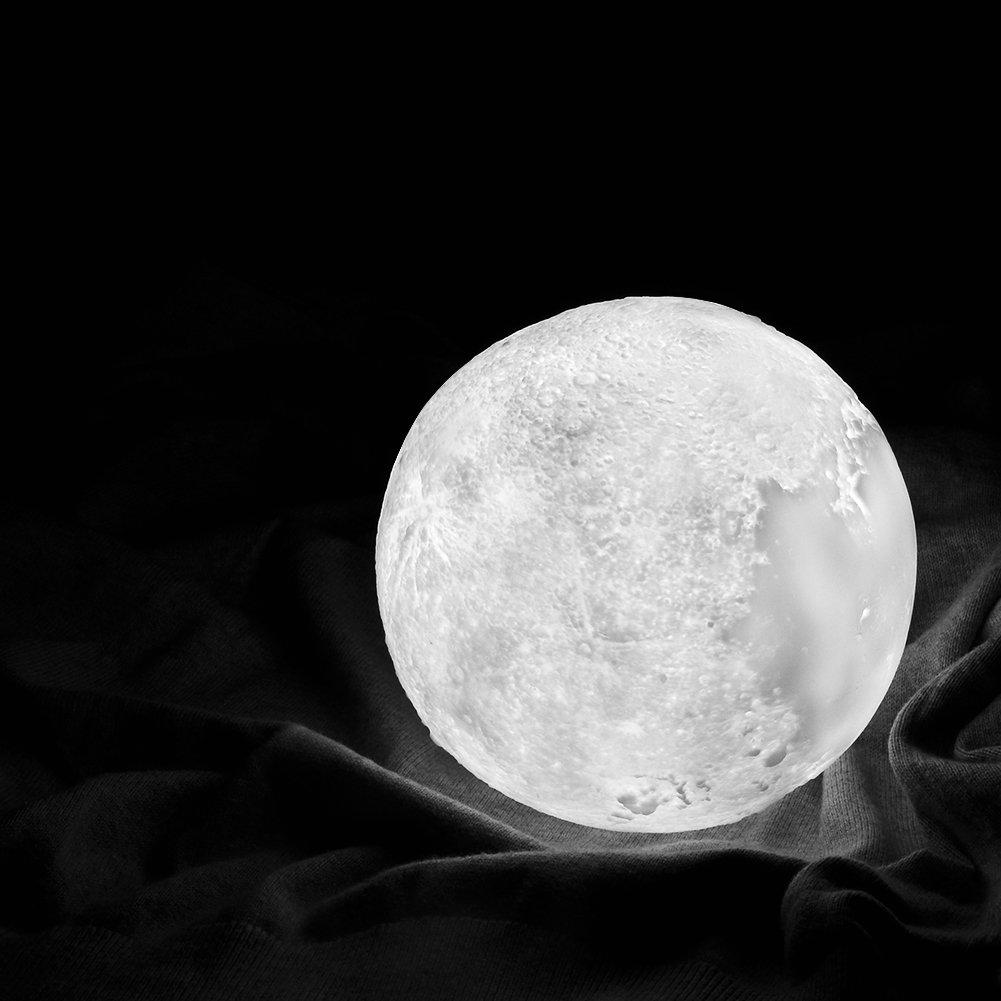 Lampe de nuit RGB Moonlight avec Interrupteur Tactile Gradable /à Piles Lampe Lune 3D Lampe Nuit Veilleuse LED Lampe Lune 15CM avec T/él/écommande USB Rechargeable