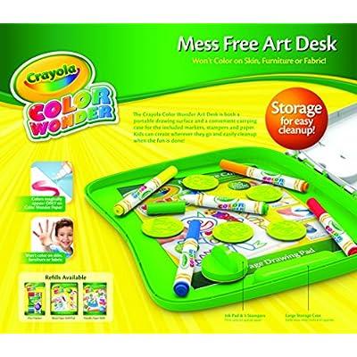 Crayola Color Wonder Art Desk with Stamper: Toys & Games