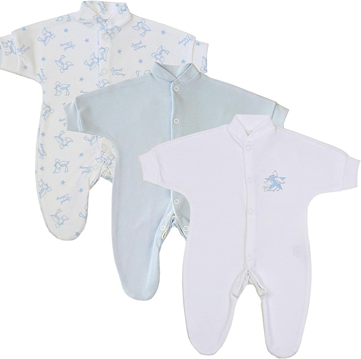 Babyprem Lot de 2 chapeaux nou/és pour b/éb/é pr/ématur/é Bleu//blanc