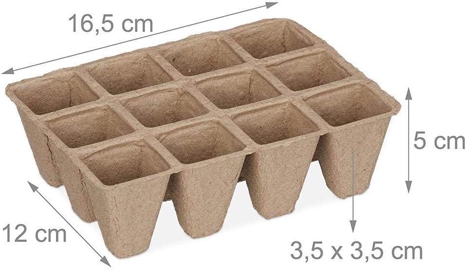 ckground 17 Pcs X 12 Cellules Semence Starter Plateau Organique Plante Semences Starter Plateau Plateau Kit Biod/égradable Semis Germination Plateaux