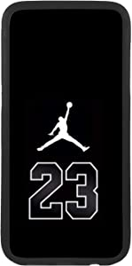 Funda Carcasa de móvil para Apple iPhone 8 Plus Logotipo Nike Air Jordan 23 Logo TPU Borde Negro