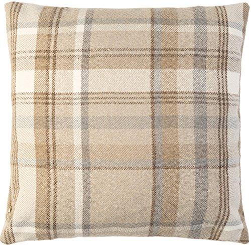 McAlister Heritage | Extra Large Wool-Textured Plaid Pillow Cover Euro Sham Case | 24x24