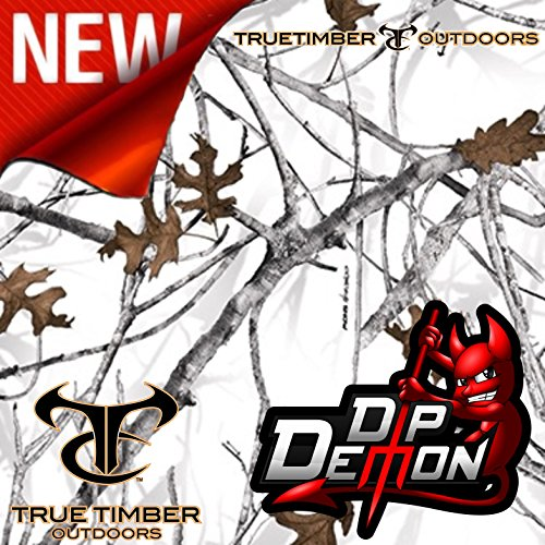 True Timber Conceal Snow Winter Camo Hydrographic Water Transfer Film Hydro Dipping Dip Demon