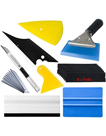 Window Tint Tools Vinyl Wrap Kit for Vehicle Film Including Felt Squeegee,Scraper,Knife
