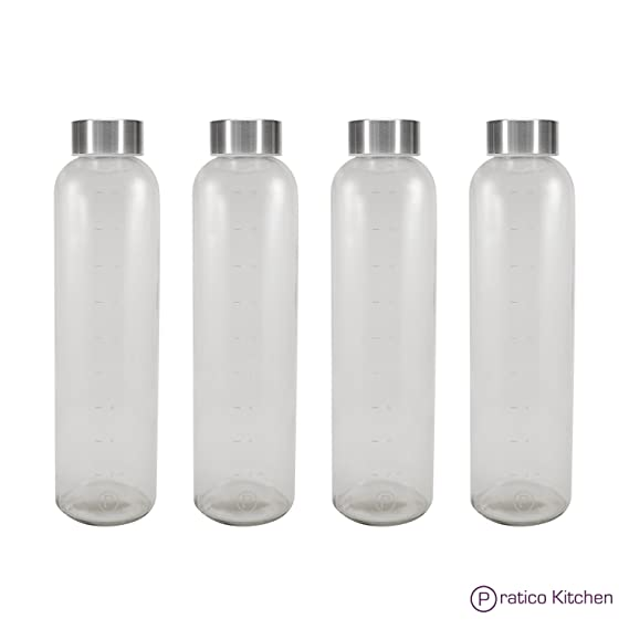 Amazon.com: Pratico Kitchen - Botellas de cristal a prueba ...