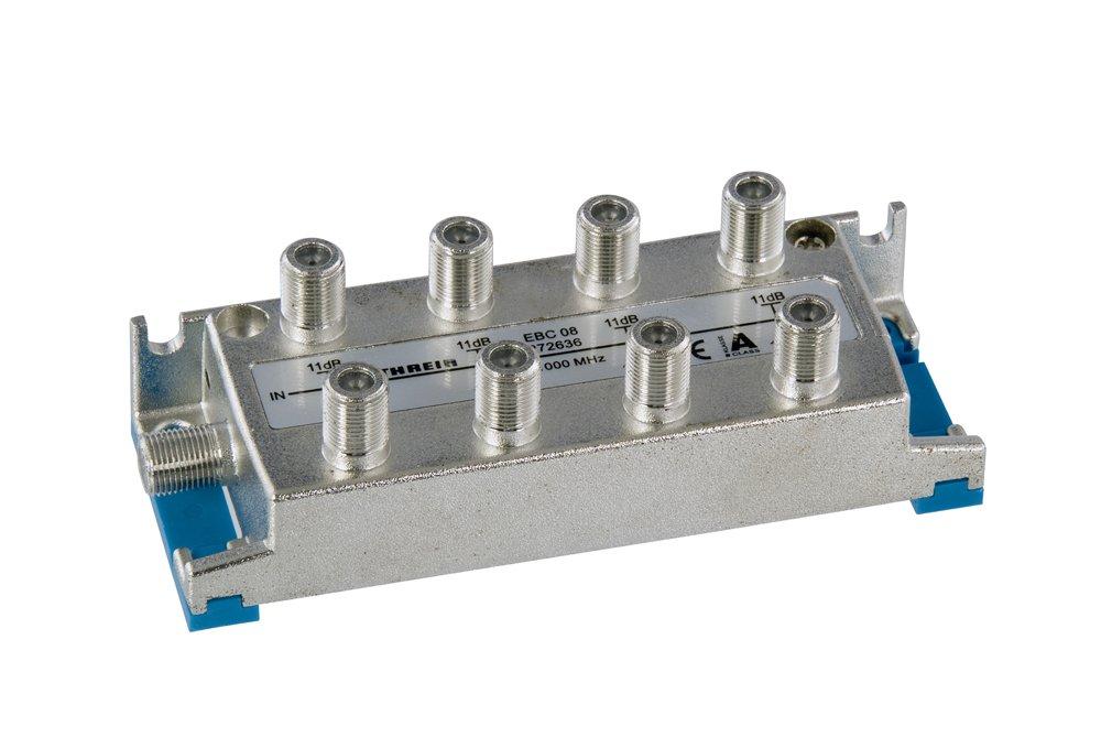 Kathrein EBC 08 - Repartidor de corriente 8 fases (enchufe hembra) 5-1000 MHz EBC08