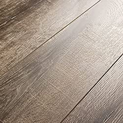 Armstrong Rustics Oak Etched Gray 12mm Laminate Flooring SAMPLE