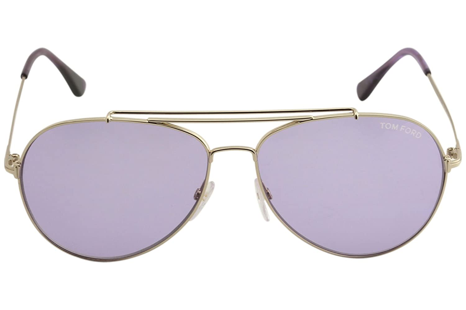8ae5c0c28dce5 Sunglasses Tom Ford INDIANA TF 497 FT 28Y shiny rose gold   violet at  Amazon Men s Clothing store
