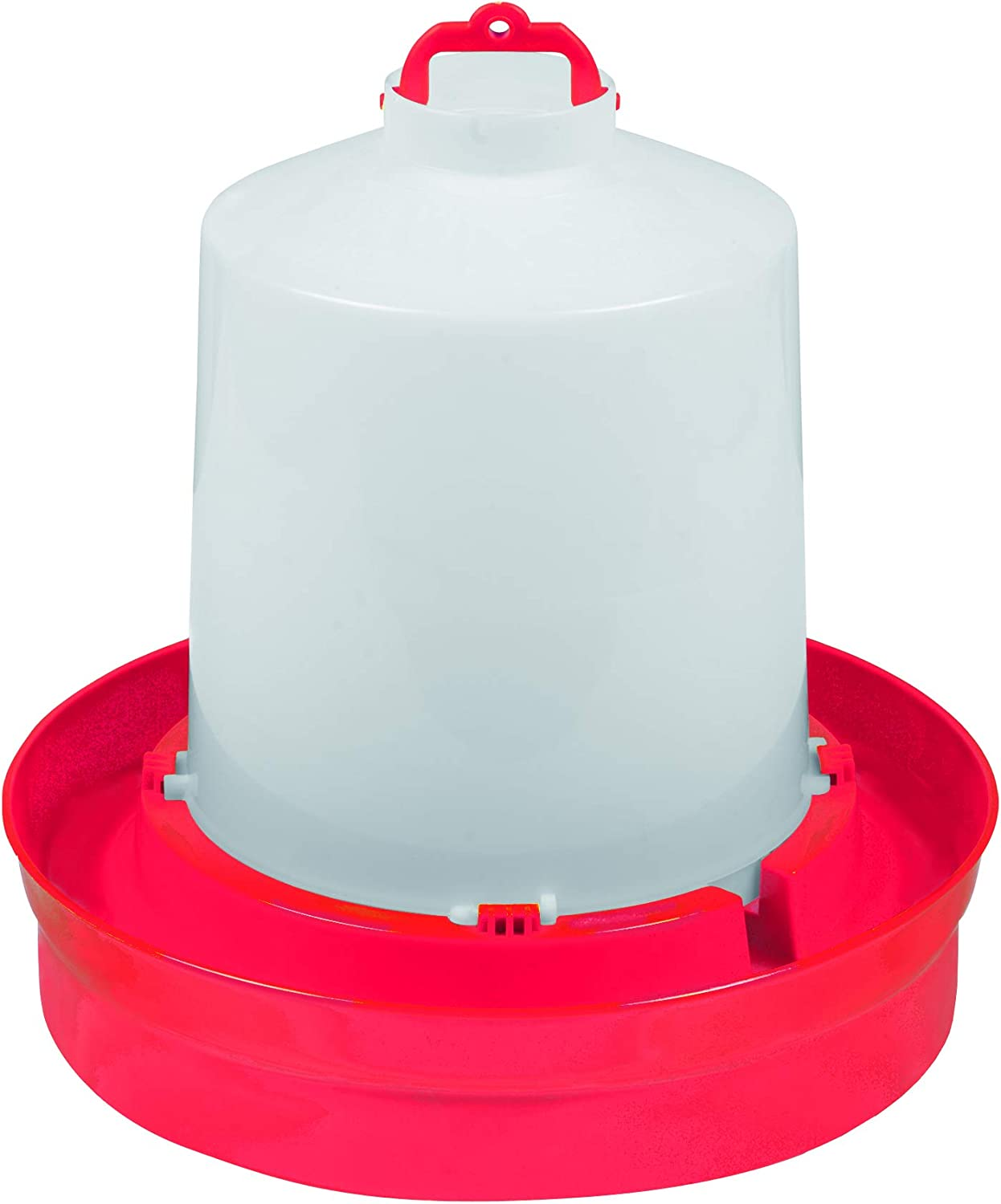 Little Giant Deep Base Poultry Waterer (2 Gallon) Heavy Duty Plastic Water Container for Birds & Chicken (Item No. DBW2)