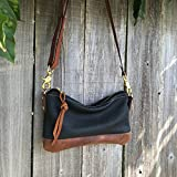 Willamette Crossbody in two tone full grain leather by Meant Mfg.
