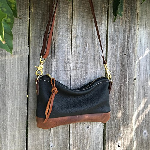 Willamette Crossbody in two tone full grain leather by Meant Mfg. by Meant Manufacturing