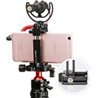 Ulanzi ST-03 Metal Smart Phone Tripod Mount with Cold Shoe Mount and Arca-Style Quick Release Plate for iPhone Xs Xs Max…