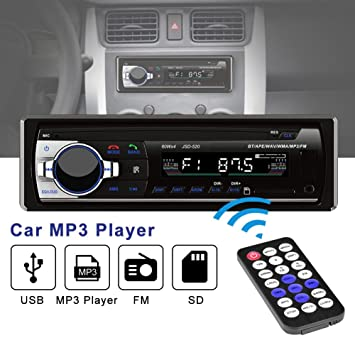 amazon com tekkperry car mp3 player, mp3 car stereo receiver withtekkperry car mp3 player, mp3 car stereo receiver with bluetooth, usb port and sd