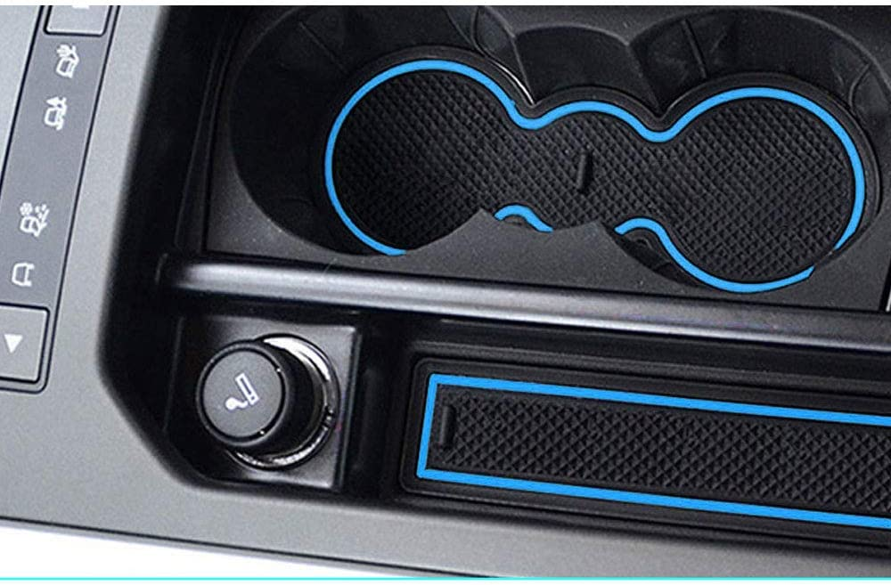 Cup Mat 8 St/ück pro Satz Blau Anti-Staub- T/ür-Slot-Pad Muchkey f/ür 2012-2015 Evoque Rutschfest Auto Innent/ür-Schalen-Matten Arm Box Aufbewahrungsmatte Pad