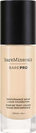 bareMinerals BarePro Performance Wear Liquid Foundation Fair 01, 1 Fluid Ounce