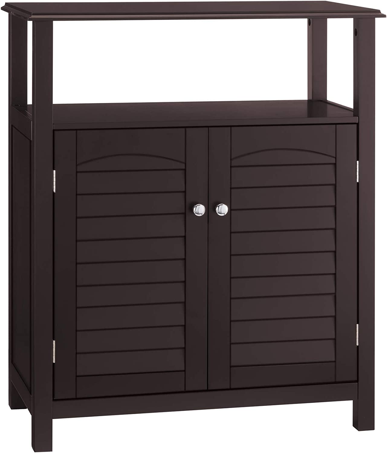 Elegant Home Fashion Danbury Freestanding Cabinet with 2 Doors-Espresso