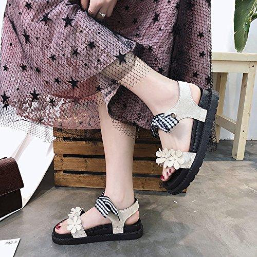 de Ocasionales a Zapatos los Moda YMFIE de de Mariposas Verano de Planos Las Las florece cómodos pies Playa Sandalias los la de pies señoras de El Las de los fwTqTEA