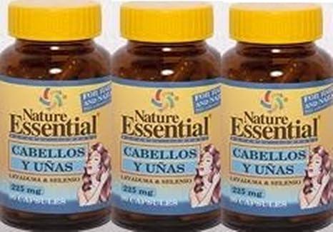 Cabellos y Uñas (Levadura y Selenio) 90 cps. Nature Essential (Pack 3u