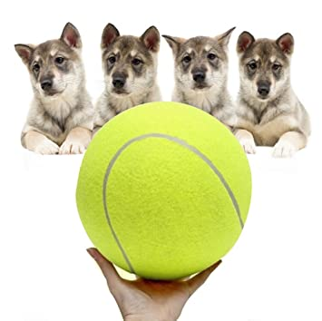 Sannysis Pelotas para perros de pelota de tenis gigante (6.5cm ...