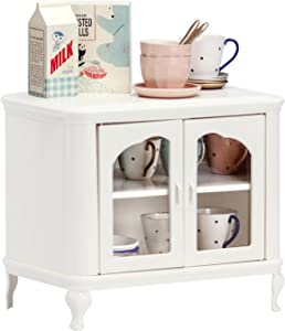 Aizulhomey Metal Dollhouse Miniature Furniture Cupboard Set Perfect for Barbie Dollhouse Furniture Accessories 1:6 Scale 25 Piece
