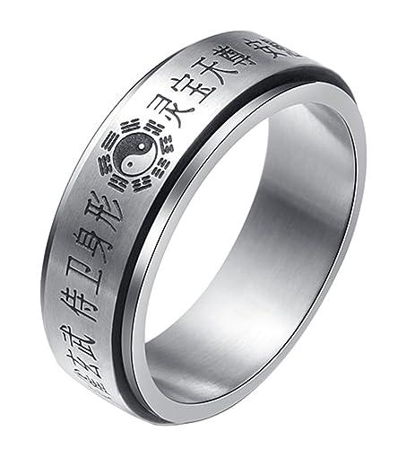 Amazon.com: alextina para hombre de acero inoxidable Yin ...