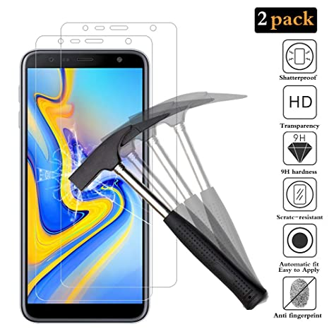 ANEWSIR Protector de Pantalla para Samsung Galaxy J6 Plus / J4 Plus [2 Pack]