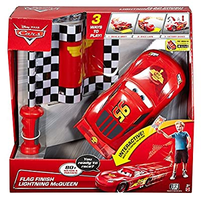 Disney Pixar Cars Flag Finish Lightning McQueen: Toys & Games