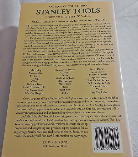 Antique & Collectible Stanley Tools Guide to Identity & Value by Example Product Brand (Image #3)