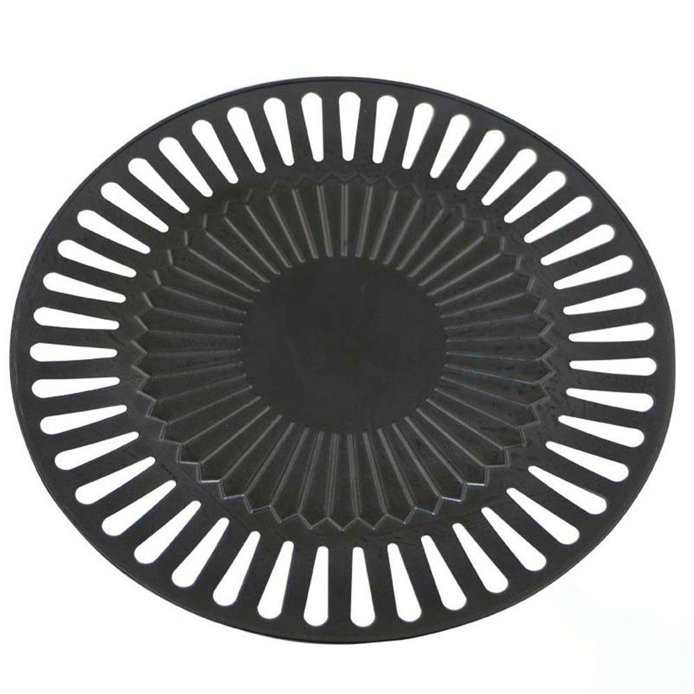etbotuグリルトッパーBBQポータブルノンスティックラウンド鉄板焼き耐熱皿パンプレート料理ツールアウトドアのホーム使用肉、野菜、シーフード B07DPL3GRZ