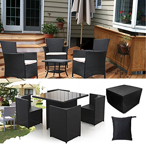 Easehold Patio Furniture Cover Square Rattan Wicker Table