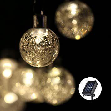Solar Led String Lights Outdoor Gorgeous Amazon Outdoor Solar LED String Lights Lampwin 60 New