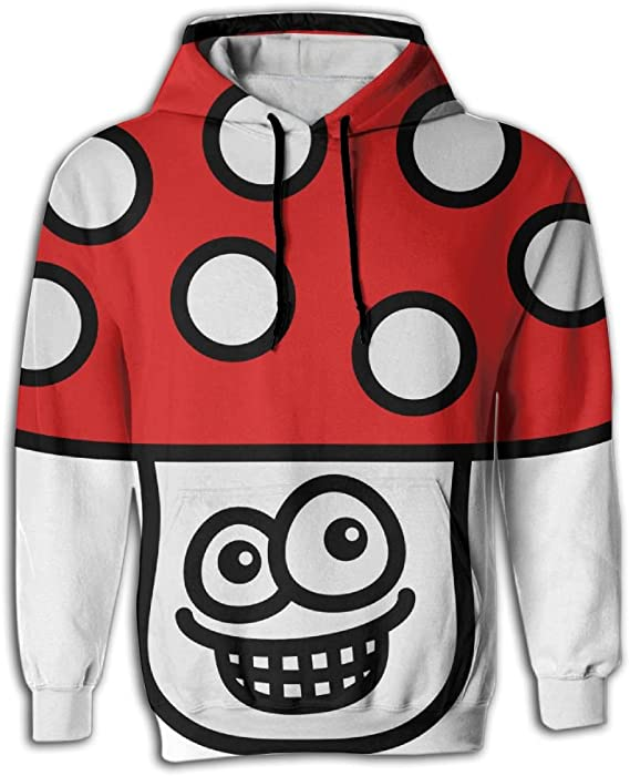 93ae7e50bef5 Shirley Men s Fashion Hoodie Sweatshirts With Pocket Grin Mushroom 3c  Pullover