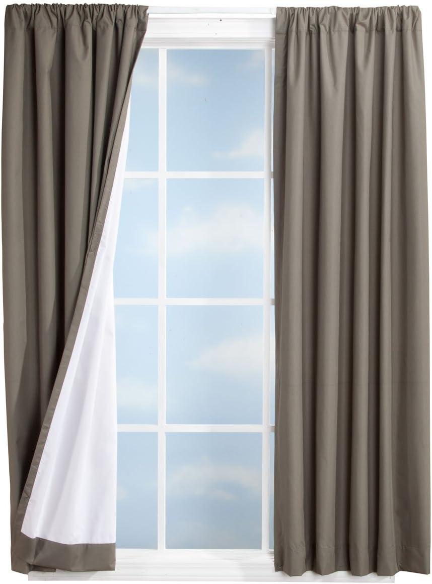 Miles Kimball Microfiber Energy Saving Blackout Curtains, 80 x 63 , Olive