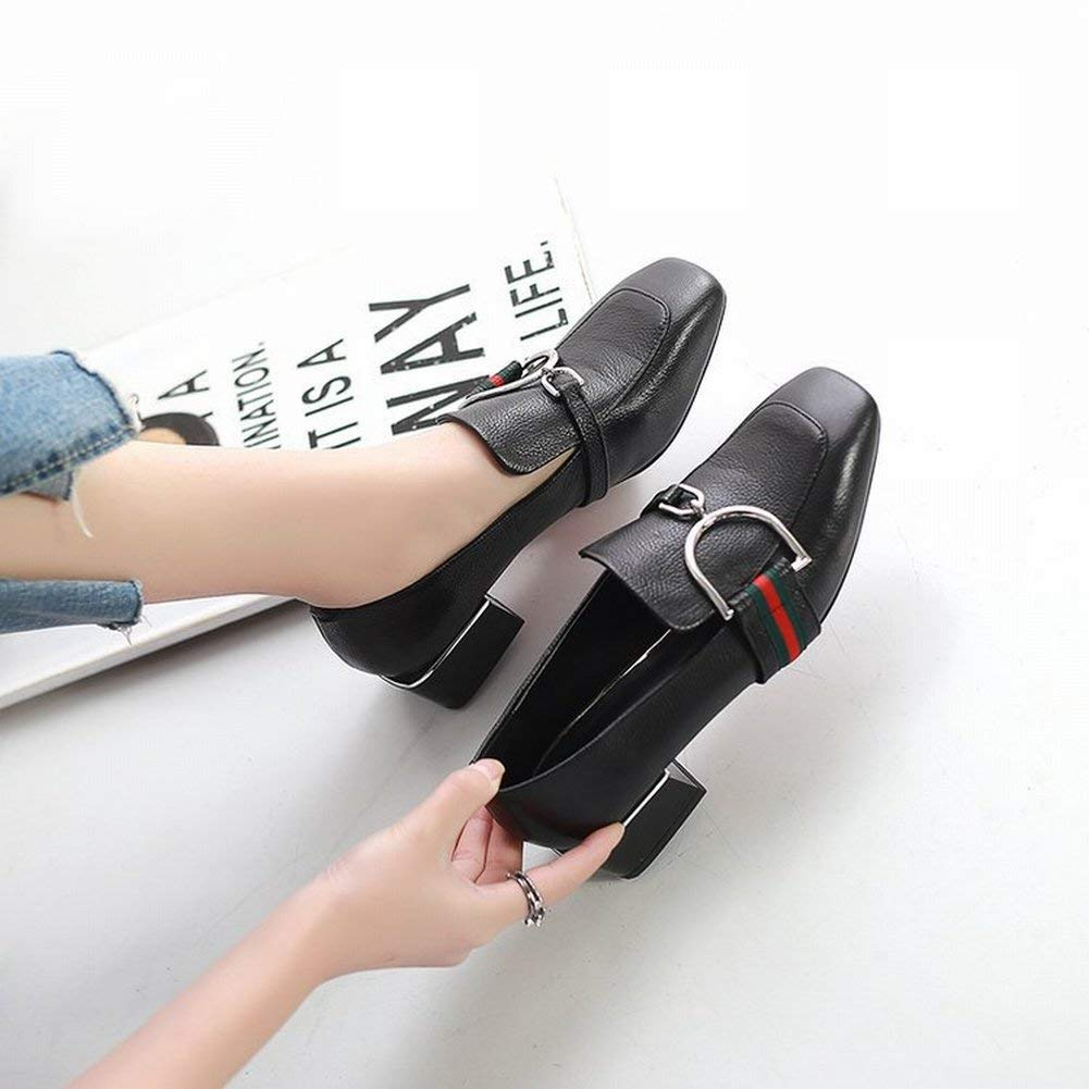 Oudan Quadratischer Schuh des Mode-Metalls Flache Flache Flache Mundschuhe Bequem mit Den Beinen Faule Schuhe Mittlere Große Schuhe (Farbe   Grün Größe   EU 40) 374f2b
