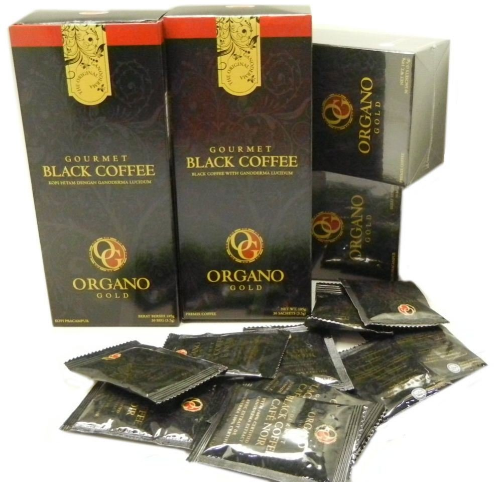 7 Boxes Organo Gold Gourmet Cafe Noir, Black Coffee 100% Certified Ganoderma Extract Sealed (1 Box of 30 Sachets) by Organo Gold (Image #5)