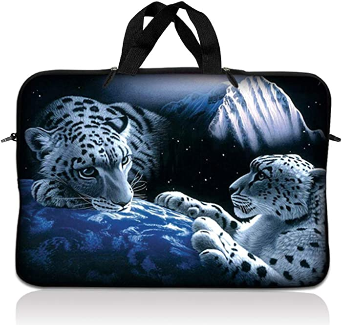LSS 17 17.3 inch Laptop Sleeve Bag Compatible with Acer, Asus, Dell, HP, Sony, MacBook and more | Carrying Case Pouch w/ Handle,Mountain Lions