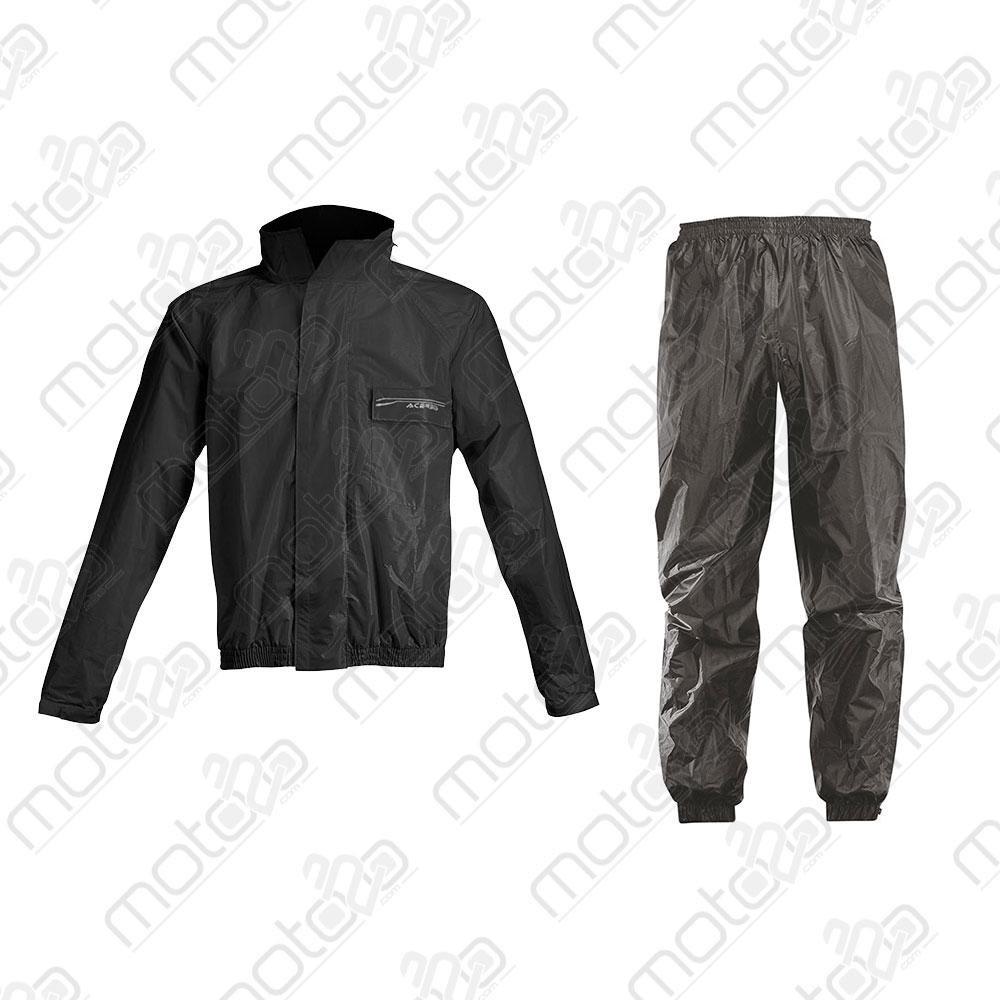 Acerbis Regen-Set Rain Suit Logo Schwarz Gr. L