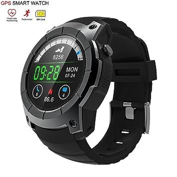OOLIFENG GPS Reloj Inteligente Pulsómetros Tarjeta SIM Comunicación Bluetooth 4.0 Deportes Relojes para Android iOS: Amazon.es: Deportes y aire libre