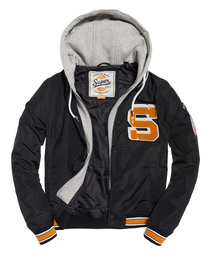 Superdry Men's Upstate Bomber Jacket (Navy, X-Large) by Superdry