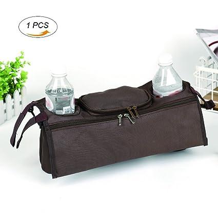 Bolsa organizadora para cochecito de bebé, ajuste universal, con fácil acceso a toallitas,