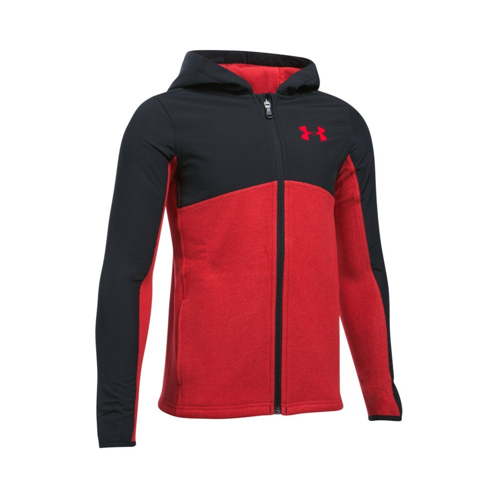 Under Armour Boys' Phenom Full Zip Hoodie,Red (600)/Black, Youth X-Small