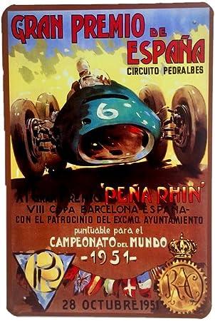 DiiliHiiri Cartel de Chapa Vintage Decoración, Letrero A4 Estilo ...