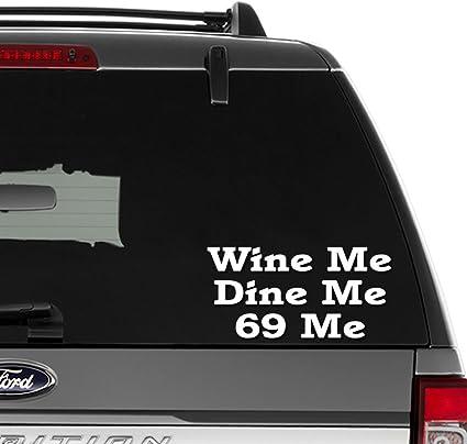 127c9755a 69 Sex Position Wine Dine Vinyl Decal Sticker For Wall Decor, Windows,  Laptop,