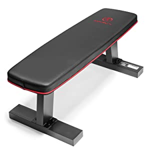 Marcy Deluxe Versatile Flat Bench Workout Utility Bench with Steel Frame