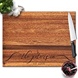 Froolu Lacy Monogram handcrafted cutting boards for Family Name Engraved Christmas Gifts