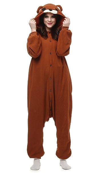 Auspicious beginning Unisex-adulto oso pardo del traje de Cosplay Animal pijamas Homewear desgaste del salón: Amazon.es: Ropa y accesorios