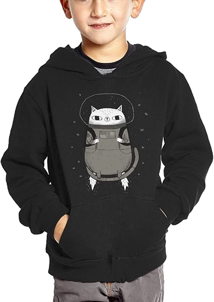 JasonMade Cat Sleep Drawing Catstronaut Funny Space Cat Kids Fashion Popular Hooded Hoodies With Pocket