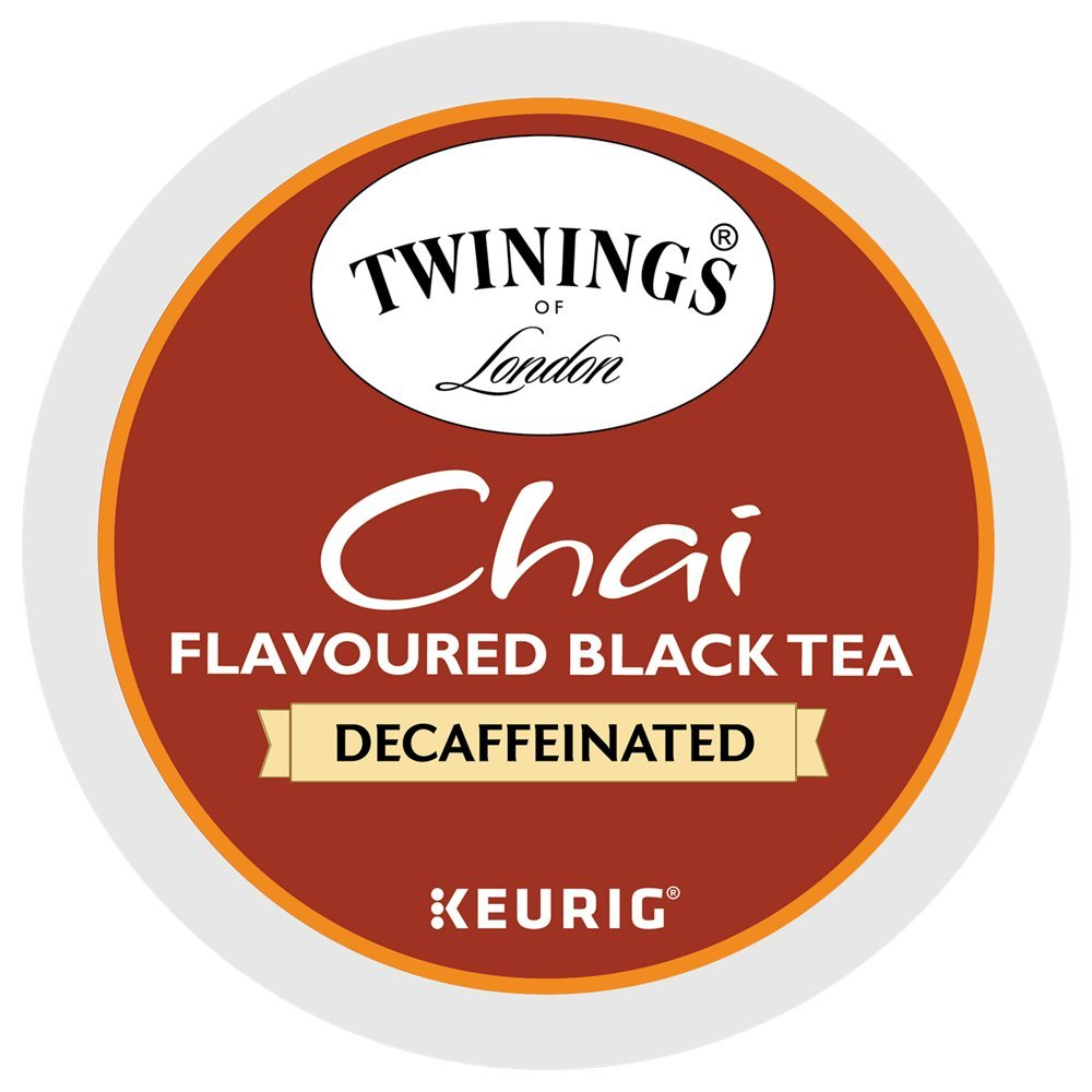 Twinings Chai DECAFFEINATED K-Cups for Keurig Brewers 48 Count