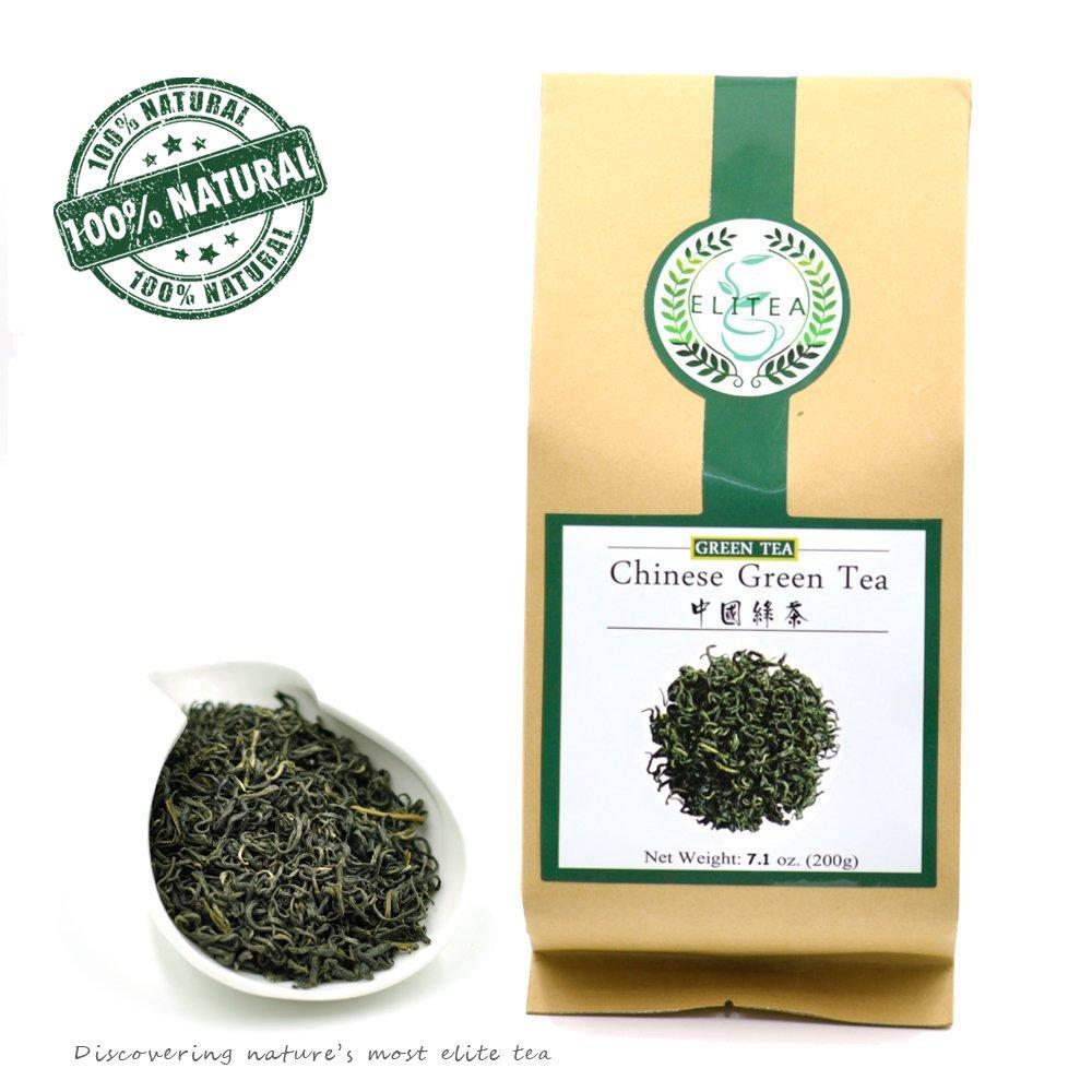 Elitea Quality Daily Green Tea Loose Leaf- 100% Natural Wild Grown China Chinese Restaurant Teas 7.1 Ounce Bag